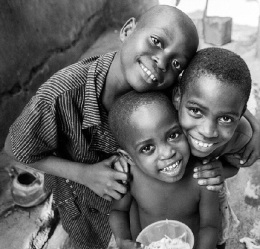 Nigerian kids who do not have much still muster up a smile.