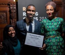 Kenny, accepting the Rare Rising Stars Award.