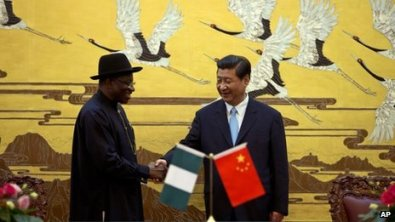 President Jonathan leads a business delegation on a four-day trip to China Photo: bbc.co.uk