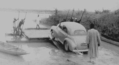 Car Ferry   1951   Bida, Nigeria   ©Ted Jefferies