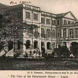 1920s | View of Government House Lagos | Lagos Nigeria | ©H. Sanya Freeman