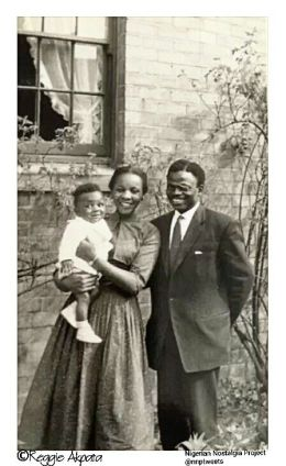 Young Nigerian family Glasgow Scotland 1960s   Photo source Reggie Akpata Nigerian Nostalgia Project