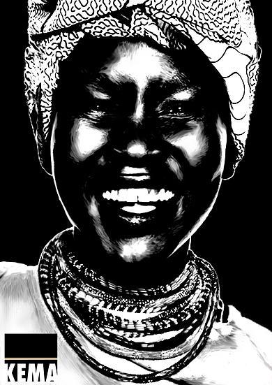 Nnamdi x KEMA Art piece produced for King's College London Ethic Minority Association (KEMA)