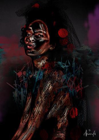Experimental piece produced using Rihanna @ELLEusa photoshoot