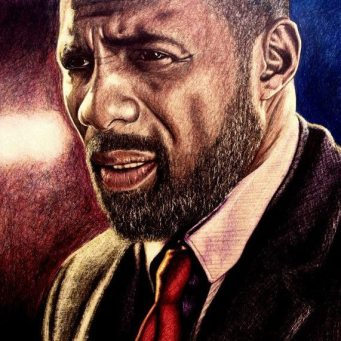 idris elba Luther art